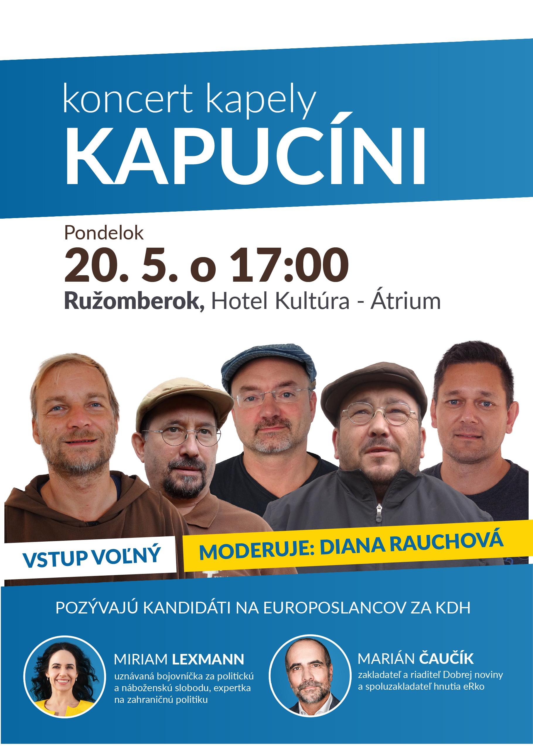 Príďte na koncert Kapucínov v Ružomberku